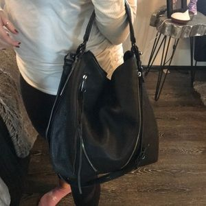 Rebecca Minkoff Zippered Leather Hobo with DustBag